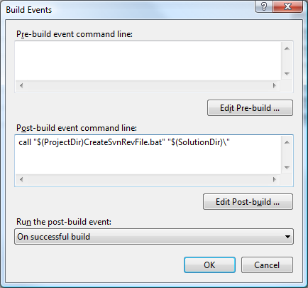 My Project - Compile - Build Events