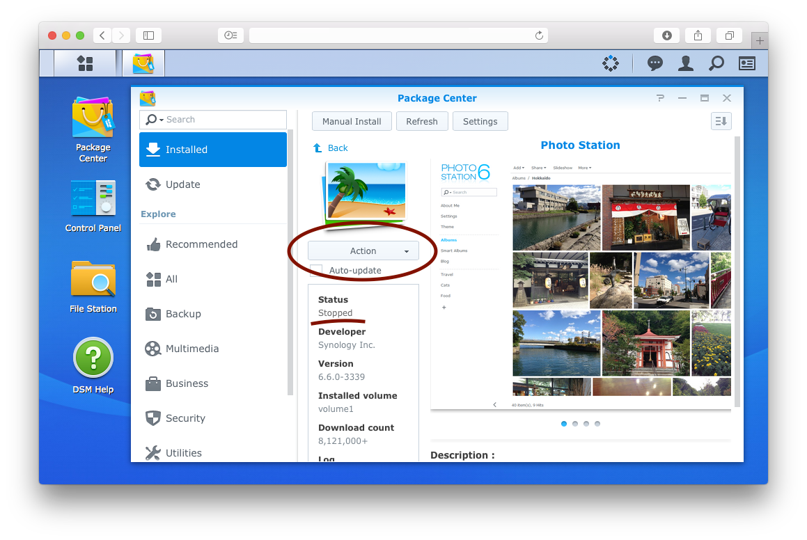 Creating Thumbnails for the Synology DSM PhotoStation · FatLemon